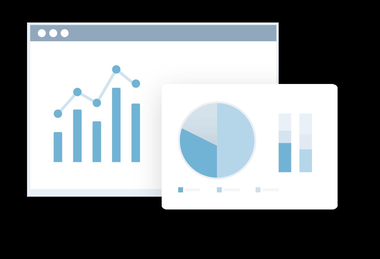 icon Webanalyse Grafiken Diagramme