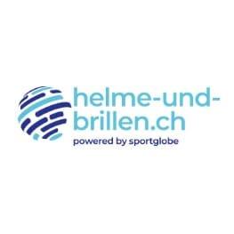 Logo helme und brillen