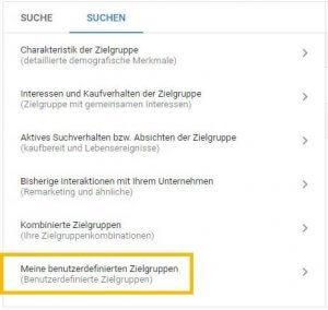 Beispielbild Ads Editor Benutzerdefinierte Zielgruppen