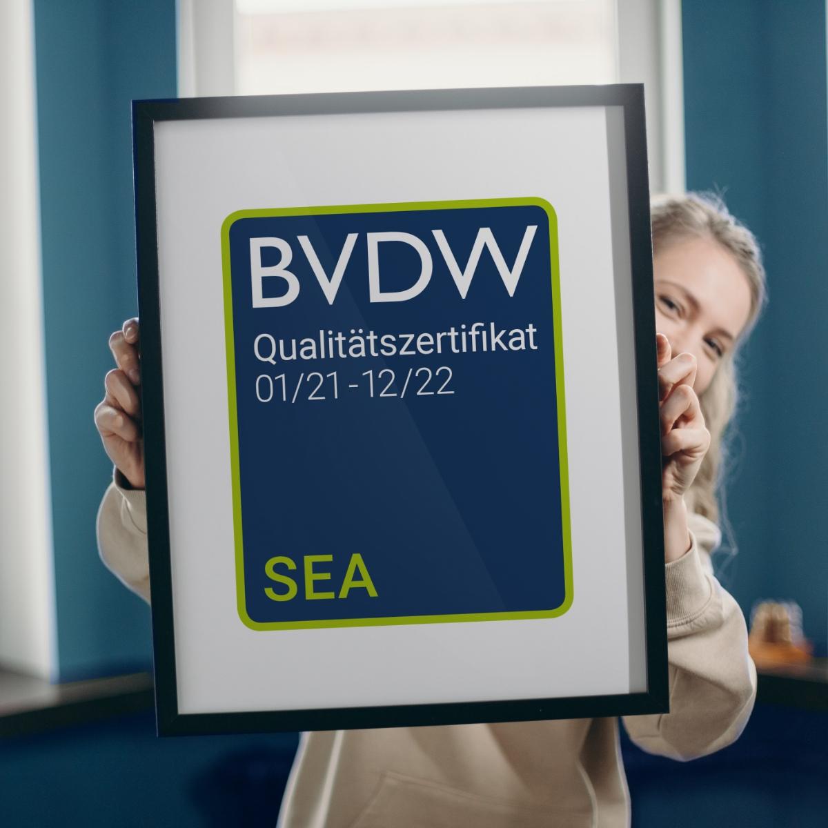 BVDW Qualitätszertifikat SEA