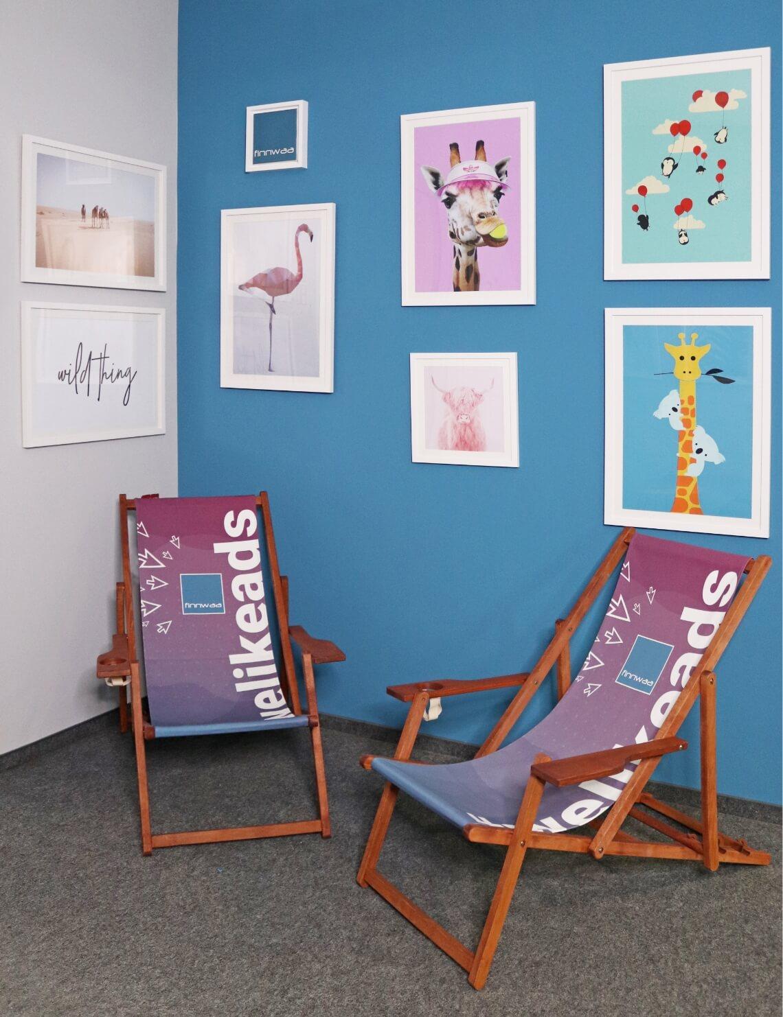 Bild Sitzecke mit Liegestühlen