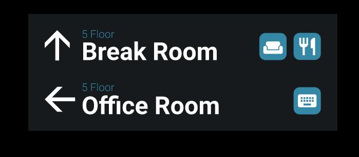 Grafik Schild Break Room