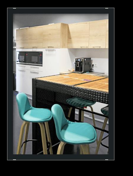 Bild Office Einblick 6. Etage Küche