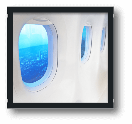 Bild Office Einblick 7. Etage Flugzeugwand
